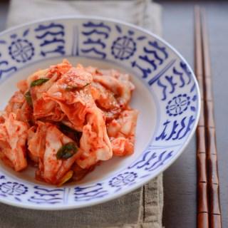 Green Cabbage Kimchi