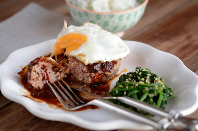 Hambak steak has soft and moisture texture and tastes the best when served with rich red wine sauce and a fried egg.