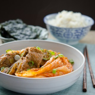 Braised Pork and Kimchi madewith very sour kimchi