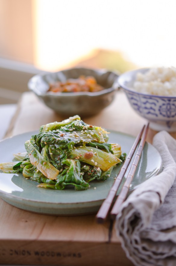 Spring Cabbage with Soy Bean Paste