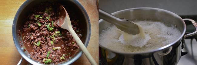 Korean Noodles with Beef Sauce