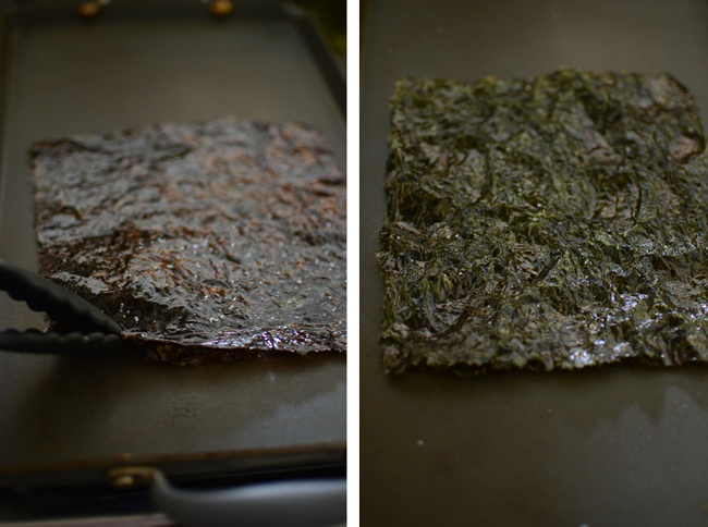 Homemade Roasted Seaweed