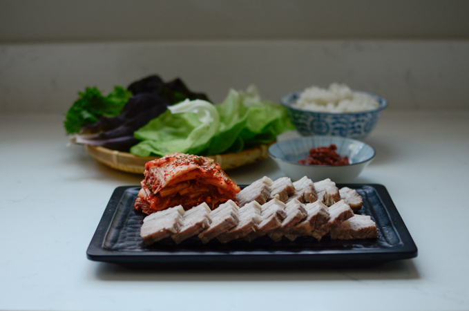 Bossam (Korean boiled pork)