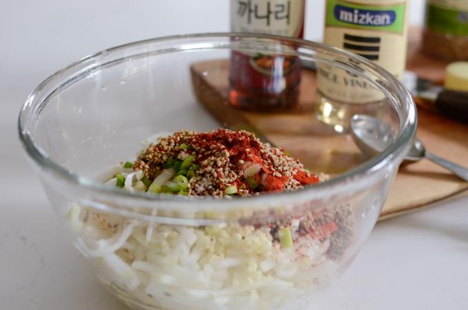 Radish Salad Rice Bowl