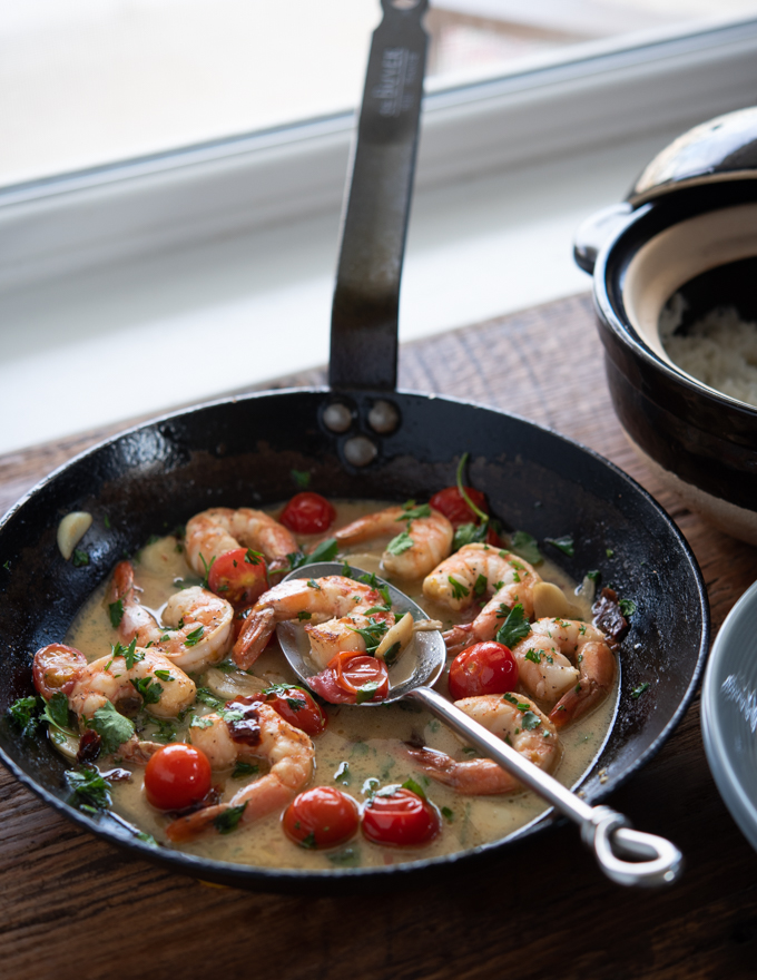 Shrimp and Tomatoes in Lemon Butter Sauce