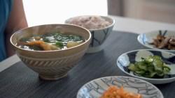 Korean Soup with Arugula and Potato