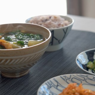 Korean Soup with Arugula and Potato