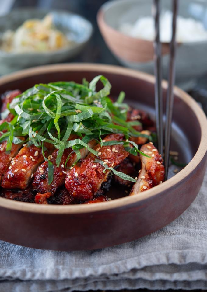 Korean chicken BBQ is a popular chicken dish in Korea