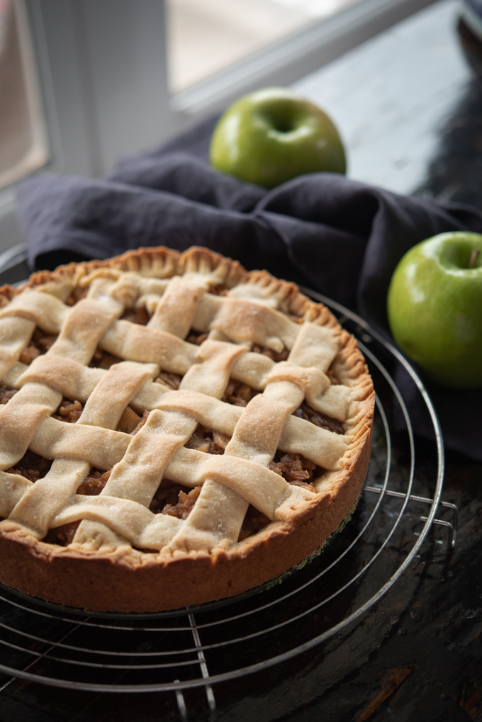 Polish apple pie has a cookie like crust filled with fragrant apple filling