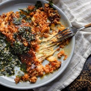 Crispy Kimchi Fried Rice Recipe with Cheese