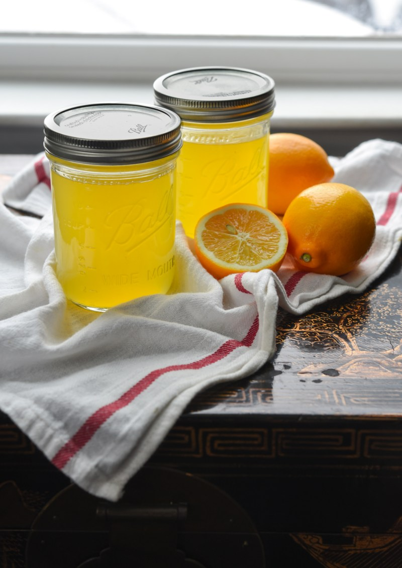With homemade Meyer lemonade syrup, you can make a lemonade anytime of the year.