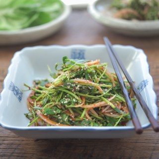 Minari salad is a great topping for Korean BBQ or meat dishes