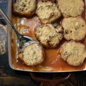 Date dumplings with brown sugar syrup