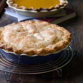 Deep dish apple pie is American classic dessert
