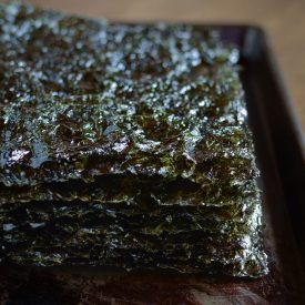 homemade seaweed snack is easy and quick to make