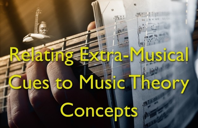 relating extra-musical cues to music theory concepts