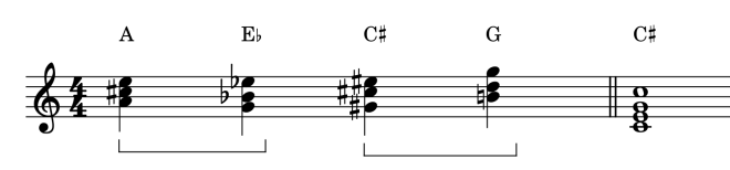 chromatic mediants in chord sequences