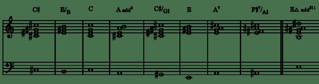 chromatic mediants example 2