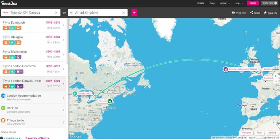 rome2rio budget travel hacks