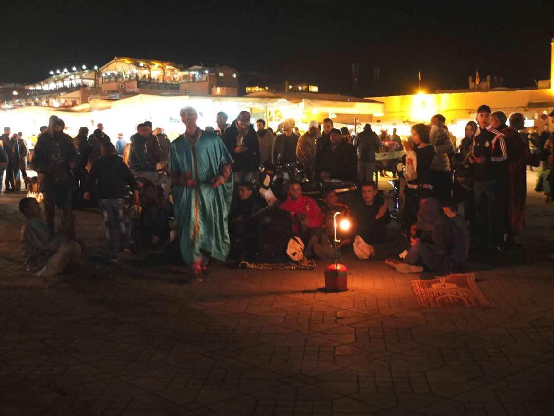 Jemaa El Fna square in Marrakesh, Morocco