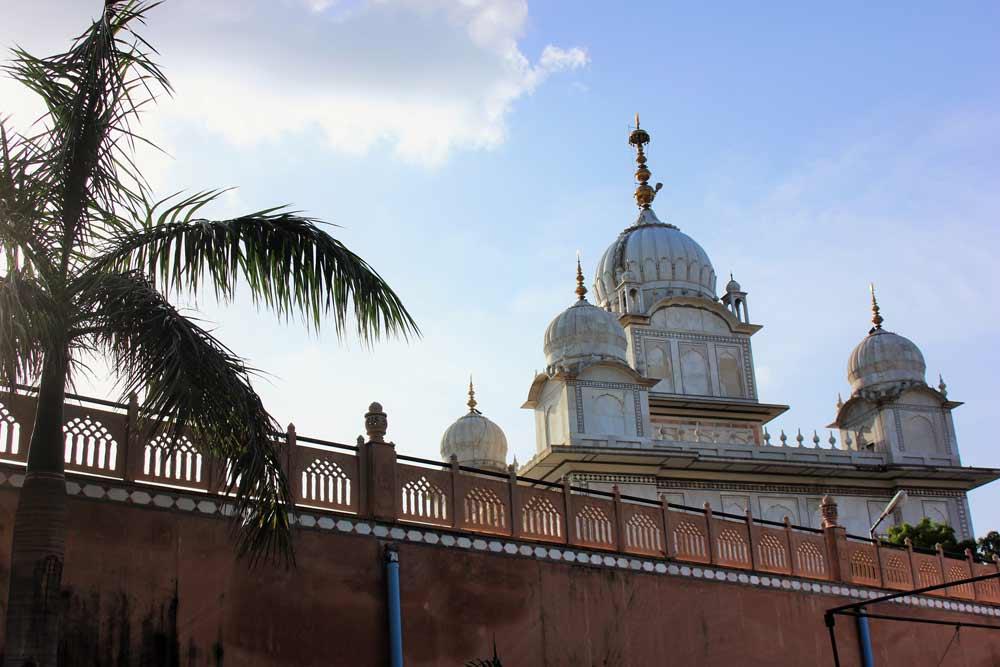 Beautiful Sunset Gwalior Sikh Gurdwara Temple