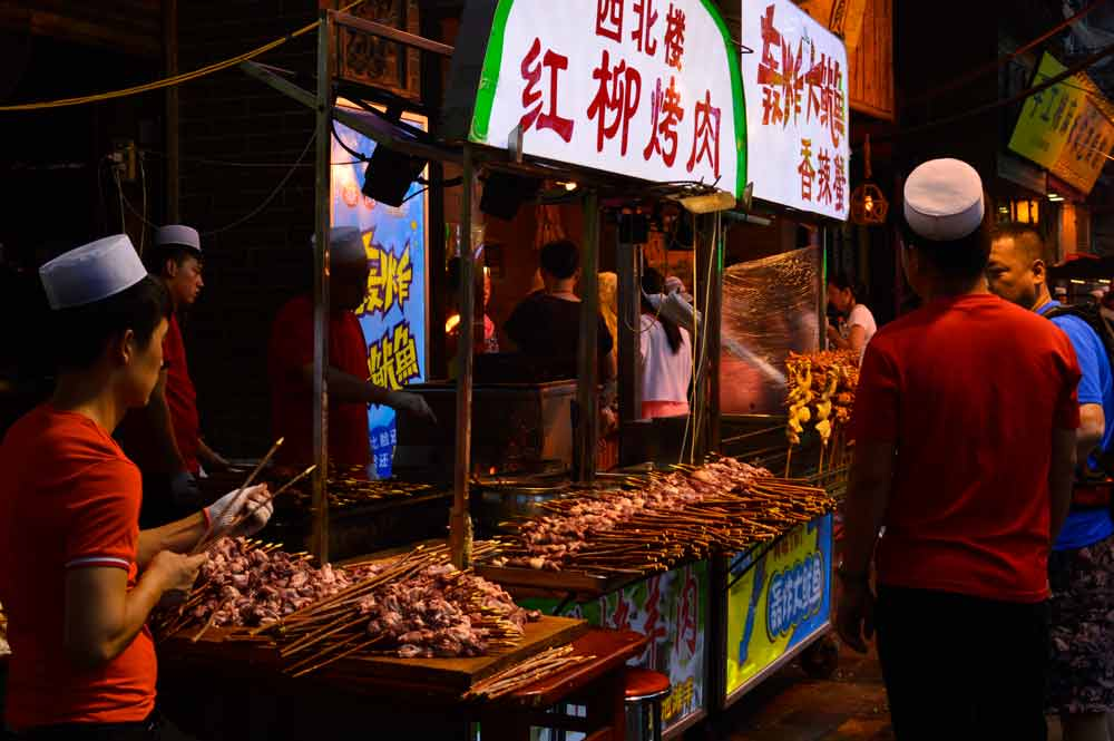 Muslim Quarters in Xi'an with great street food