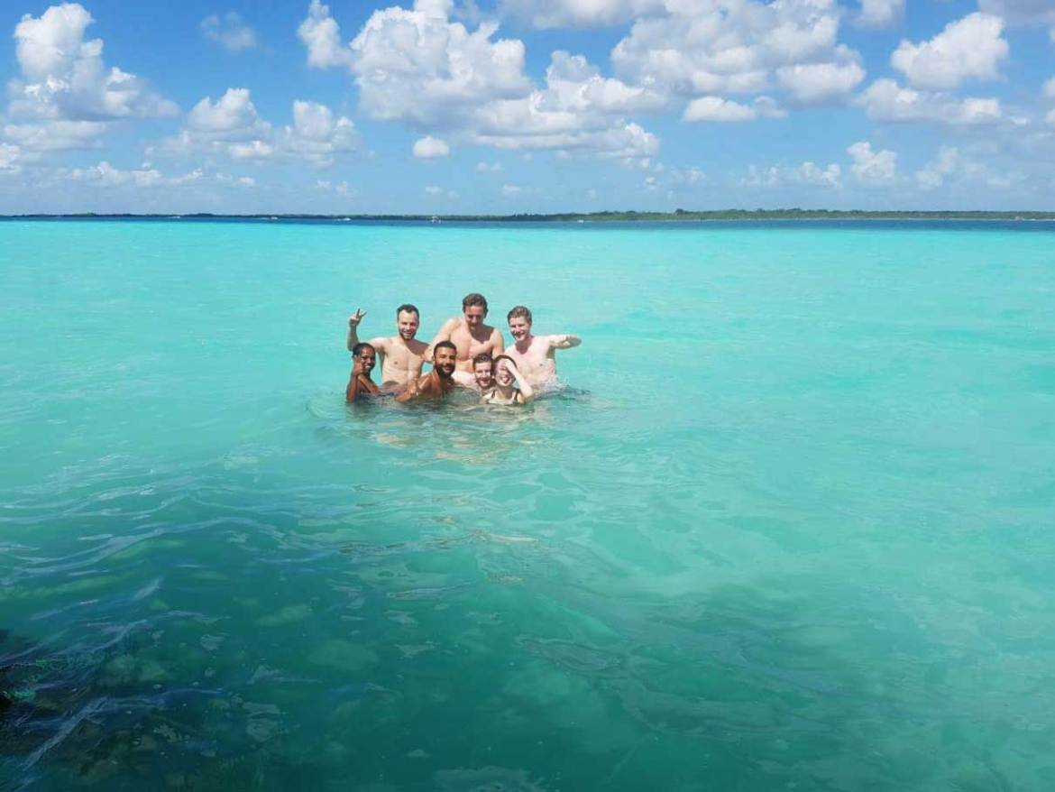 Beautiful Day in Bacalar, Mexico, travel Yucatan