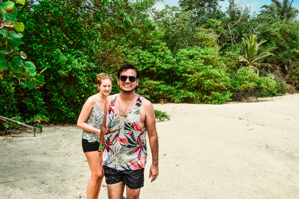 Some friends at Tayron Park on a sandy white beach