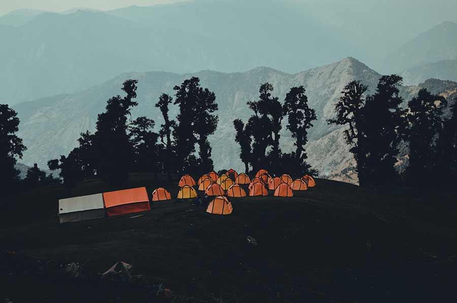 camping in the himalayas chopta tungnath