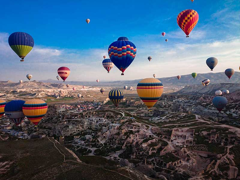 The best places to visit in Turkey- Cappadocia hot air balloons