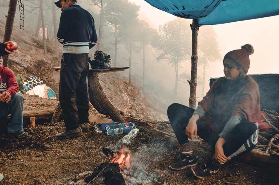 camping at acatenango