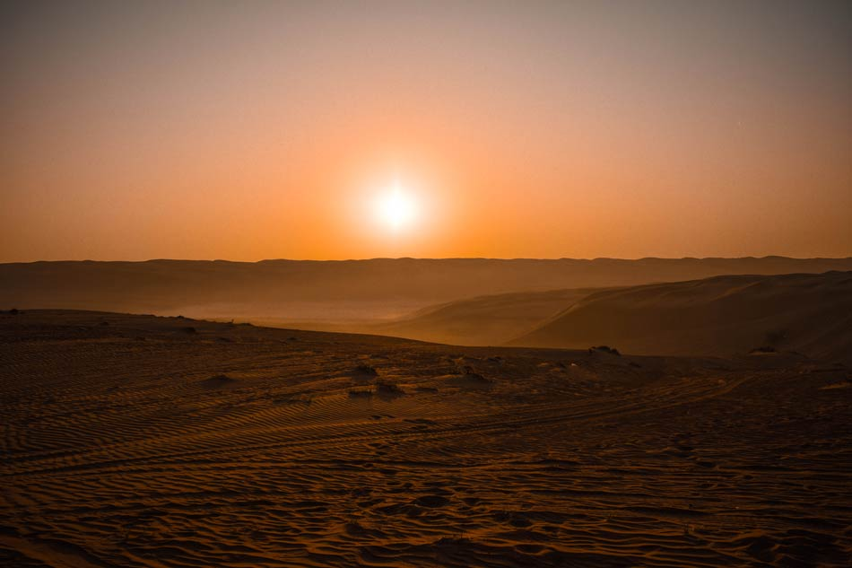 Sunrise in the Wahiba Sands