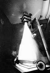 Light flowing from a Black & White enlarger