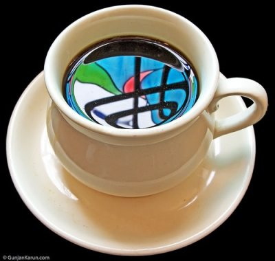 reflections-in-a-coffee-cup by Gunjan Karun