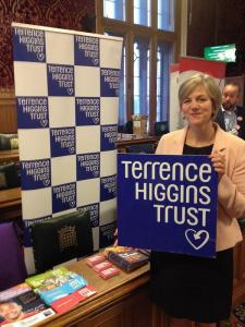 Lilian Greenwood MP at today's 'Halve It' event. Photo credit THT.