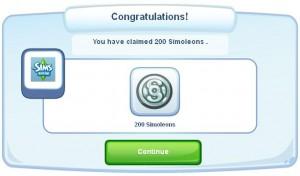 200 Free Simoleons in The Sims Social!