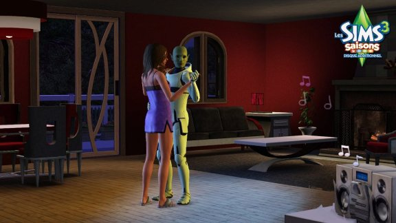Alien & Female Sim Slowdancing