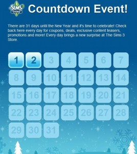 Sims 3 Countdown on Facebook + Upcoming Premium Content!