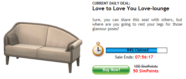 The Sims 3 Daily Deal - 19th august 2011