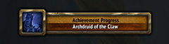 Achievement - Archdruid of the Claw