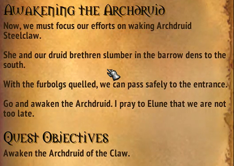 Quest - Awakening The Archdruid