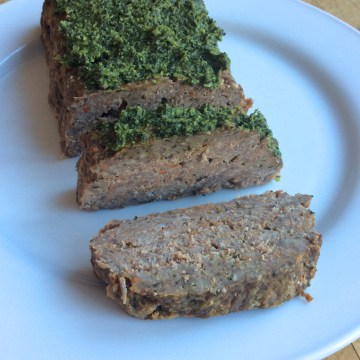 Paleo Italian Meatloaf With Pesto Sauce (AIP)