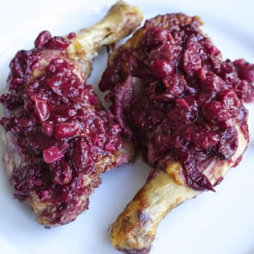 Paleo Cranberry Red Wine Braised Chicken (AIP-friendly)