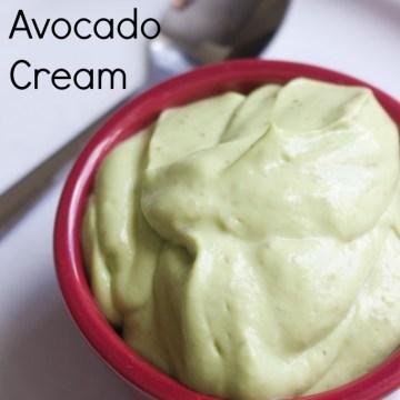 Paleo Autoimmune Protocol Sweet Avocado Cream