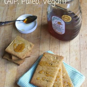 AIP Paleo Cassava and Tigernut Flour Honey Graham Crackers (Coconut, Egg, Dairy, Nut Free)