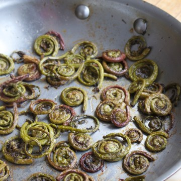 Paleo Duck Fat Fiddlehead Ferns (Autoimmune Friendly)