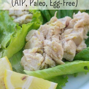 AIP Paleo Lemon Garlic Chicken Salad