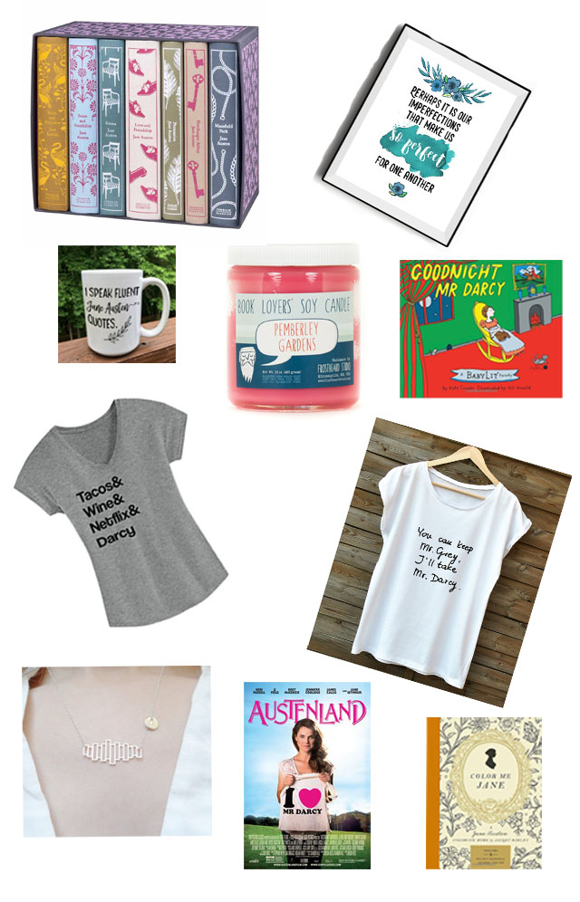Jane Austen Lovers Gift Guide Shopping