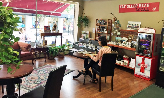 Cafe at the Doylestown Bookshop. The perfect nook for a book and a cuppa.