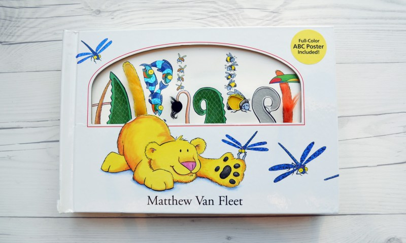 Alphabet by Matthew Van Pelt is a must have for all library shelves. Interactive flaps, texture panels, scratch and sniff stickers PLUS animals and plants names make learning the alphabet fun!
